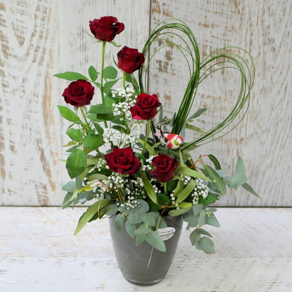 6 Rose Love Arrangement