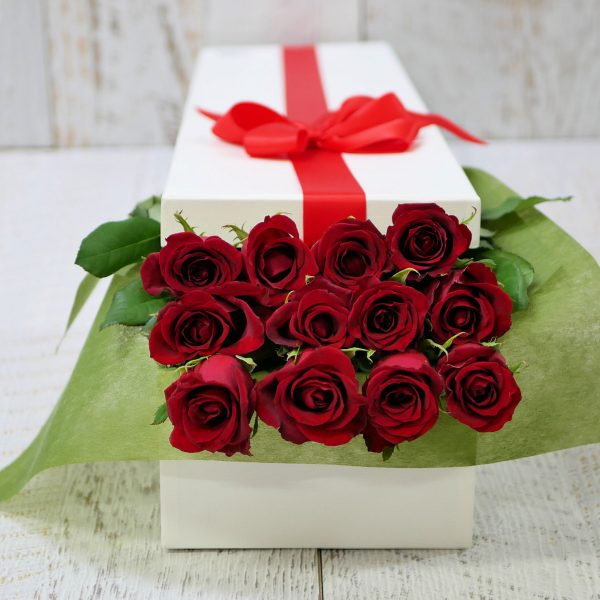 Romantic Roses - Dozen Red Roses in a presentation box