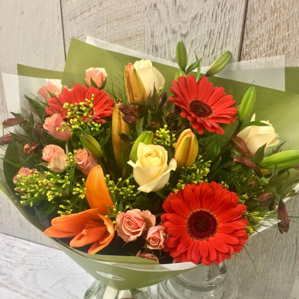 Bright Rose and Gerbera Bouquet