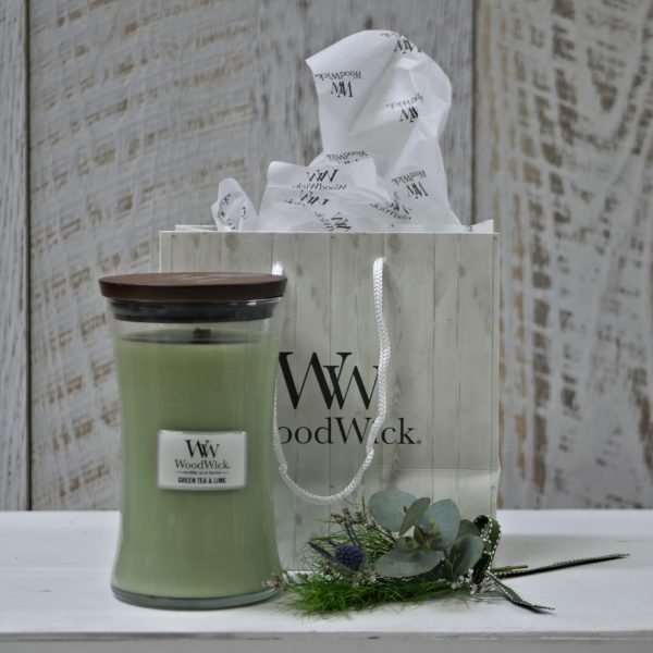 Green Tea and Lime Large Woodwick