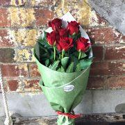 1/2 dozen rose bouquet
