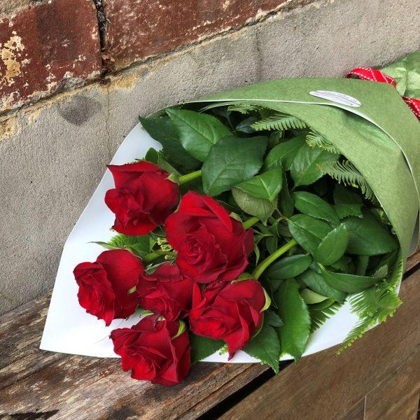 1/2 dozen Red Rose Bouquet