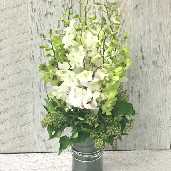 Orchids in a Vase Arrangement
