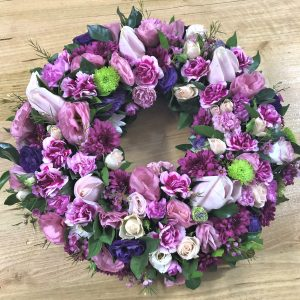 Purple and Pink Wreath Large